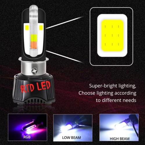 Foto Produk Lampu Led Motor H4 H6 RTD M02K App RGB 29 Mode Original RTD dari RTD LED