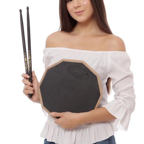 Foto Produk Paket SZS Drum Pad / Drumpad Economis + Stick Zildjian Travis Barker dari Ezra Drumpad shop