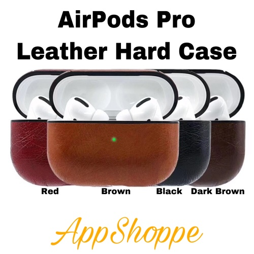 Foto Produk AirPods Pro Leather Case Cover Protective Skin Apple Airpod Charging dari AppShoppe