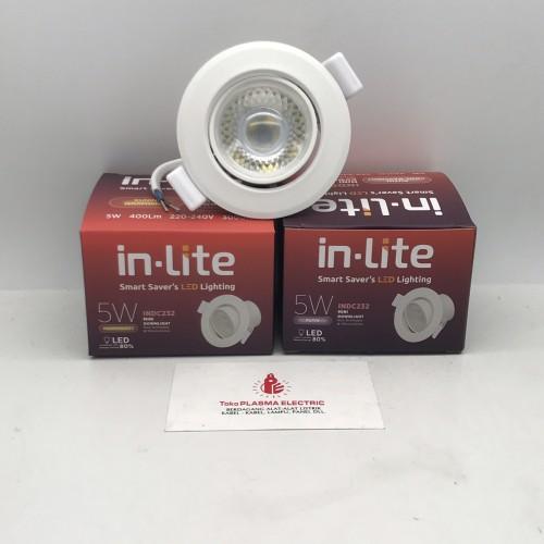 Foto Produk LAMPU SPOTLIGHT INLITE IN-LITE 5W 5 W 5WATT 5 WATT INDC232 - Putih dari Plasma electric