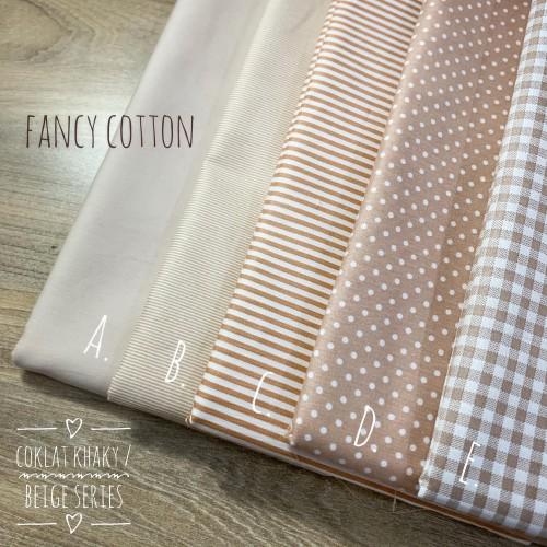 Foto Produk kain katun jepang motif coklat khaky / beige series dari tokai senko - kode K dari Fancy Cotton