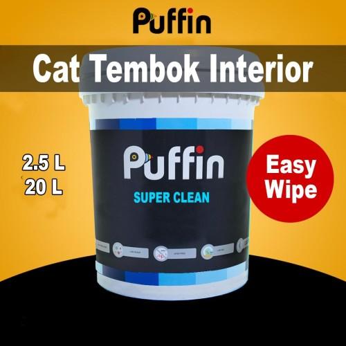 Foto Produk Cat tembok anti noda PUFFIN SUPER CLEAN 2.5L dari puffinpaint