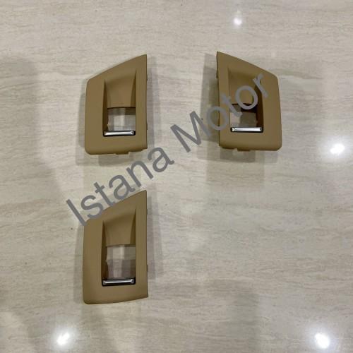 Foto Produk Cover switch power window BMW F10 beige set 3 pcs dari Istana Motor Mercy BMW