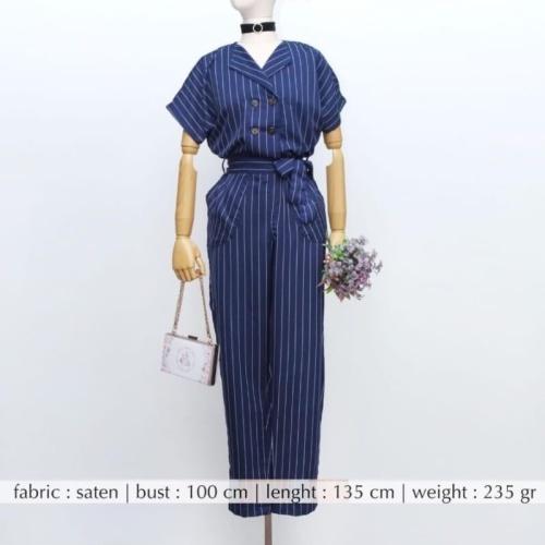 Foto Produk Stripe Casual Jumpsuit dari Elegancee Shop