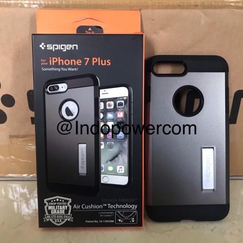 Foto Produk Spigen Iphone 7 Plus Case Tough Armor Gunmetal Original dari Indopowercom