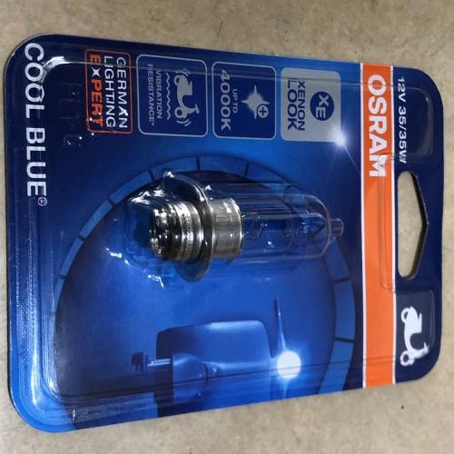 Foto Produk LAMPU DEPAN OSRAM HALOGEN KAKI 1 H6 COOL BLUE 35 & 25 dari rodamas2