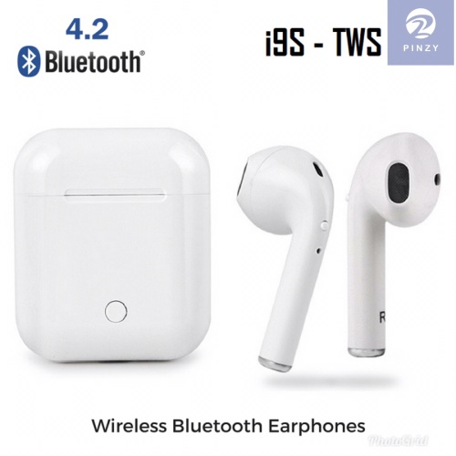 Foto Produk Headset Bluetooth PINZY I9s Twins with Magnetic Charging case - Putih dari PINZY Official Store
