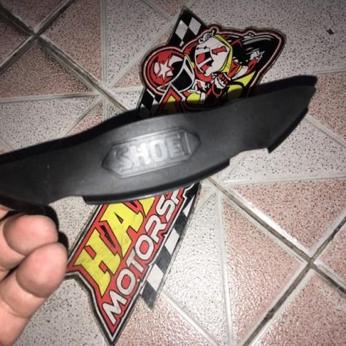 Foto Produk Brand new 100% Nose guard cover hidung helm shoei X14 original Japan dari Happy MotorsportKadipiro