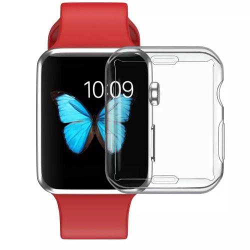 Foto Produk Soft case apple watch iwatch series 1 2 3 full screen clear 38mm 42mm - 38mm dari goru