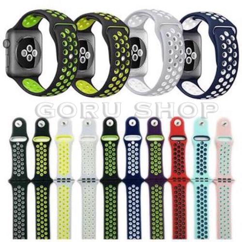 Foto Produk Strap apple watch nike iwatch 1 2 3 4 sport band original 38 40 42 44 dari goru