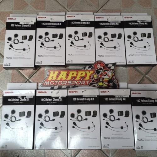 Foto Produk Paket clampkit clamp kit khusus Sena 10C 10CPro original by Sena dari Happy MotorsportKadipiro