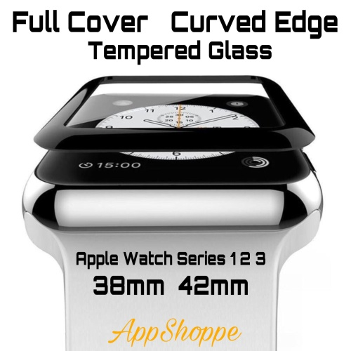 Foto Produk Apple Watch Series 1 2 3 Tempered Glass FULL COVER Curved Edge 38/42mm dari AppShoppe