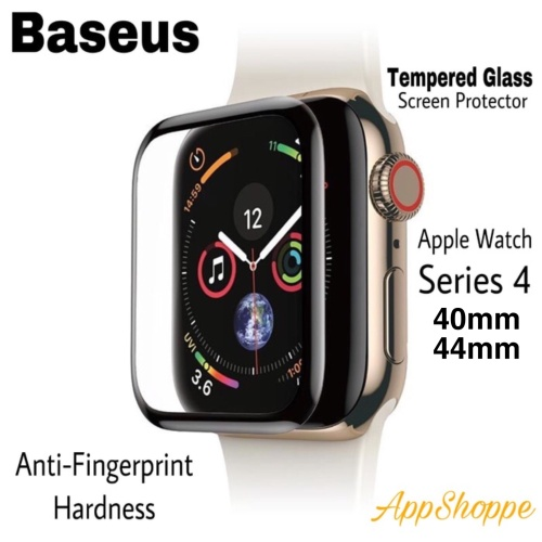 Foto Produk BASEUS APPLE WATCH SERIES 4 FULL COVER TEMPERED GLASS SCREEN PROTECTOR - 44mm, anti gores dari AppShoppe