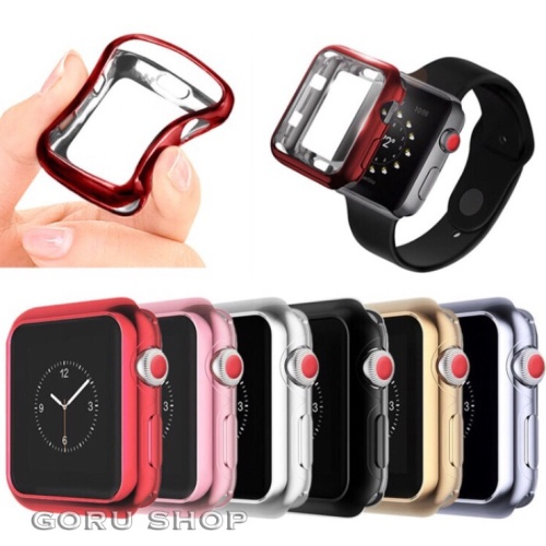 Foto Produk High quality soft case apple watch iwatch series 1 2 3 electroplating - 38mm, Merah dari goru