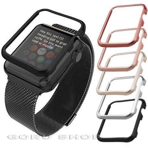 Foto Produk Bumper hard case apple watch series 1 2 3 best quality 38 42 38mm 42mm - Hitam, 38mm dari goru