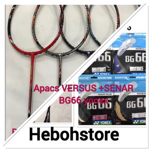 Foto Produk RAKET BADMINTON APACS VERSUS 55/77 +BONUS SENAR YONEX BG66 ORIGINAL dari Hebohstore