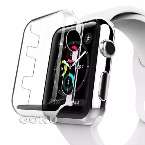 Foto Produk Bumper Hard case apple watch 4 iwatch bening screen protector 40 44 mm - 40mm dari goru