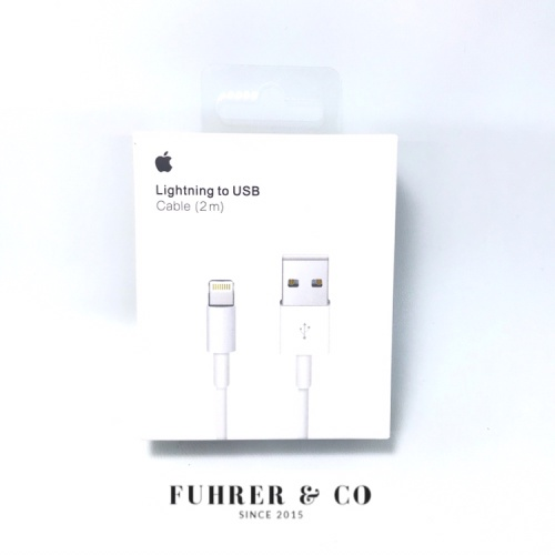 Foto Produk Lightning Cable / Kabel USB / Charger Iphone 2 M / 2 Meter Original dari Fuhrer Shop