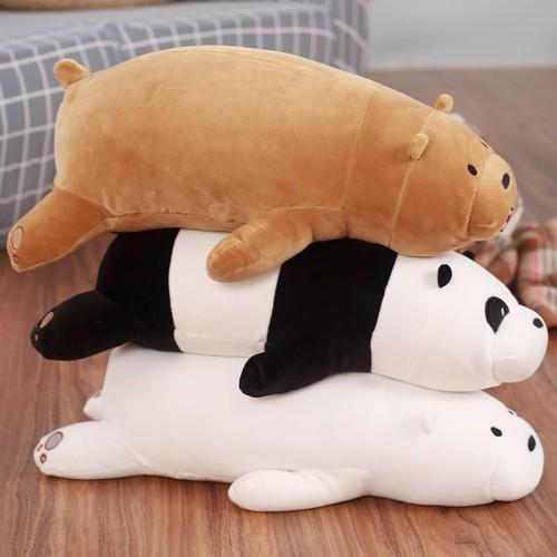 Foto Produk Boneka We Bare Bears Berbaring Panda , Grizzly , Ice Bear Super Soft dari CICAQGO