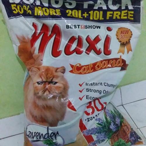 Foto Produk Pasir gumpal maxi 30L pasir wangi pasir kucing dari Grosiran Petshop Bekasi