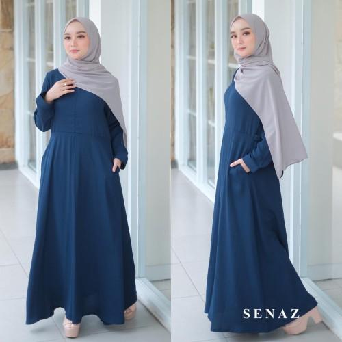 Foto Produk SHENA DRESS / GAMIS SYARI CANTIK / DRESS MUSLIM WANITA WARNA NAVY dari aidahijabers