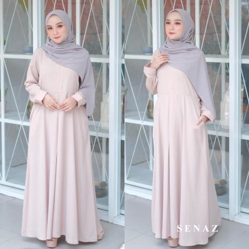 Foto Produk SHENA DRESS NUDE / GAMIS SYARI CANTIK / FASHION MUSLIM WANITA dari aidahijabers