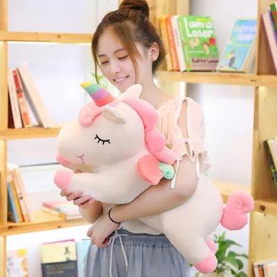 Foto Produk 55CM Boneka Unicorn Baring Super Soft Impor / Boneka Kuda Pony dari CICAQGO