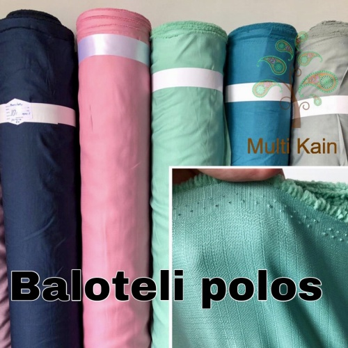 Foto Produk Bahan kain baloteli balotelli balotely balotelly high twist poliester - 1922 coklatmuda dari multi kain