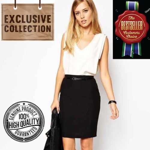 Foto Produk Rok Hitam Mini Span Bodycon Pensil Korean Skirt Stretch Impor-AF SK 08 dari CW Boutique
