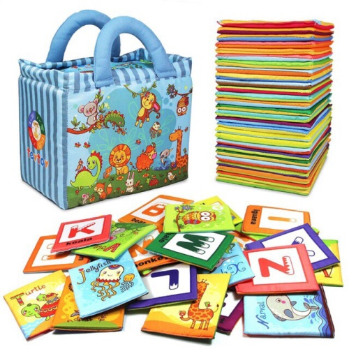 Foto Produk Soft Books - Alphabet Zoo 26pcs Huruf Buku Bantal Book Mainan edukasi dari My Own Flashcards