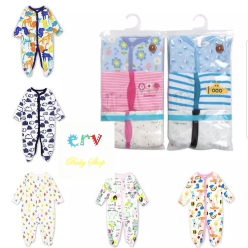 Foto Produk Sleepsuit Bayi / Romper Bayi / Jumper Bayi / Baju Bayi (1pack ~ 3pcs) dari ervbaby