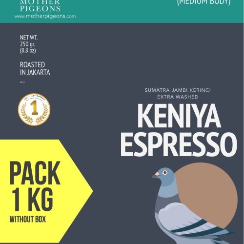Foto Produk KENIYA ESPRESSO (Sumatra Keniya Extra Washed) 1 Kg Pack! dari Motherpigeons Roaster