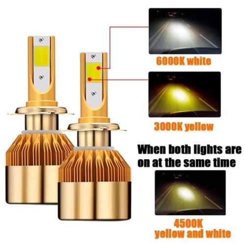 Foto Produk Lampu Led Mobil HB4 9006 3 Warna 3000 4500 6500 K 2 Pcs Sepasang R145 dari RTD LED