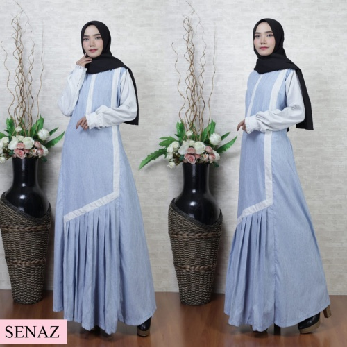 Foto Produk RALIA DRESS SILVER PASTEL BLUE / GAMIS SYARI CANTIK / FASHION MUSLIM dari aidahijabers
