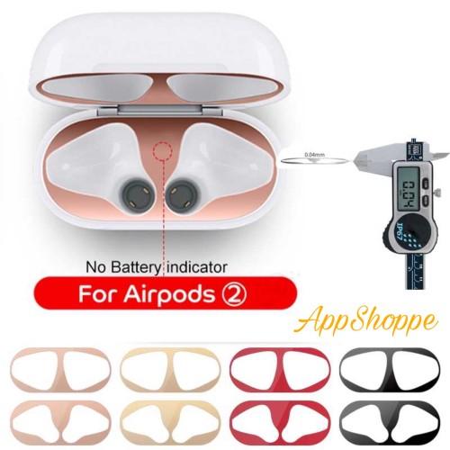 Foto Produk AirPods 2 Case Dust-Proof Anti-Dust Metal Adhesive Guard Metallic 18K dari AppShoppe