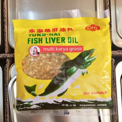Foto Produk Minyak Ikan Tung Hai Fish Liver Oil isi 500 Kps Tunghai dari MULTI KARYA GROSIR