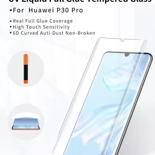 Foto Produk TEMPERED GLASS UV HUAWEI P30 PRO / P30 / P30 LITE FULL COVER FULL LEM - P30 PRO dari natan communication