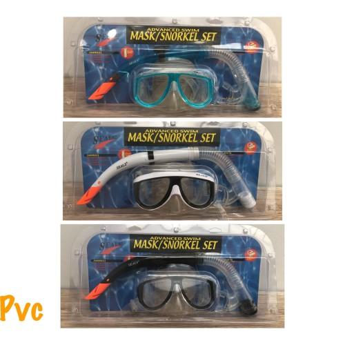 Foto Produk Mask snorkel set pvc -alat diving mask snorkel renang selam dari LELUTO SPORT