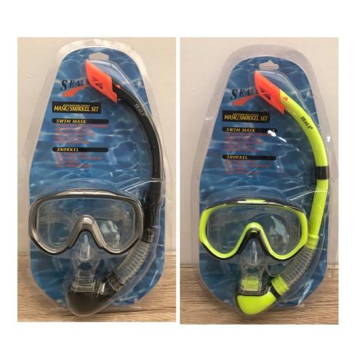 Foto Produk Mask snorkel set silicone -kacamata renang selam snorkeling dari LELUTO SPORT