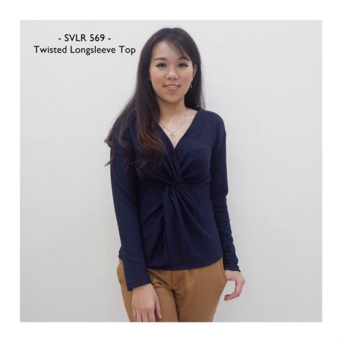 Foto Produk Twist Longsleeve Top - Baju Lengan Panjang dari Vimelshops