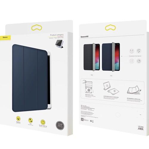 Foto Produk BASEUS Simplism Magnetic Leather Case for iPad Pro 12.9 inch 2018 - Hitam dari Pine Premium Gadget Acc