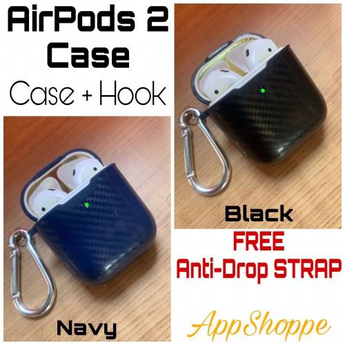 Foto Produk AirPods Gen 2 Carbon Fiber Soft Full Protective Case with Hook APPLE dari AppShoppe