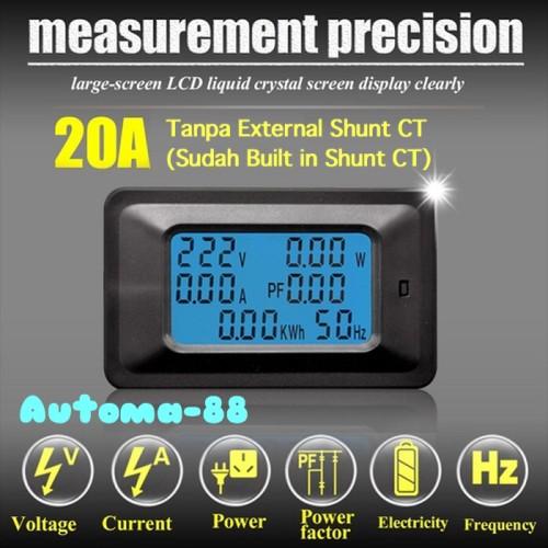 Foto Produk New Model AC Voltage Ampere Watt Kwh Cos Phi Energy Meter 20A dari Automa-88