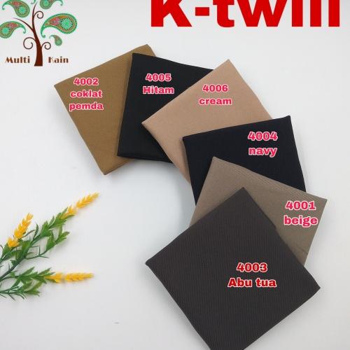 Foto Produk Bahan kain soft twill twil polyester Fashion, celana, jas, blazer - 4004 navy dari multi kain