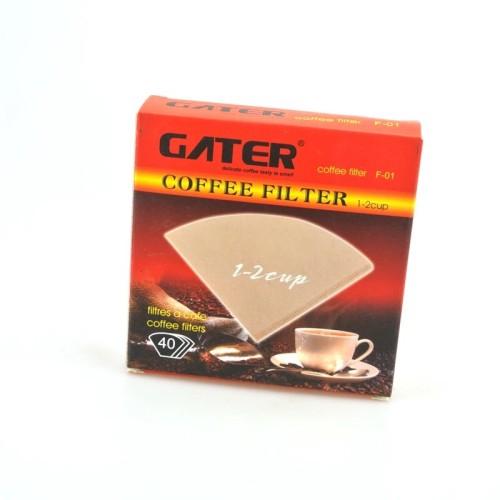 Foto Produk Coffee filter 1-2 cup / kertas saringan kopi v60 / gater kopi filter dari vesper