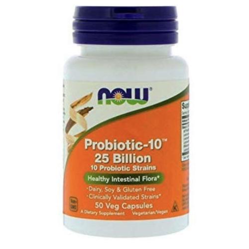 Foto Produk Now Foods Probiotic-10 25 Billion 50 veg capsules probiotics - Isi 100 dari Winnie's Stores