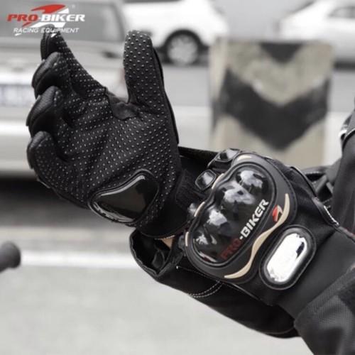 Foto Produk Sarung tangan probiker full - L merah dari Kitaro MotorShop