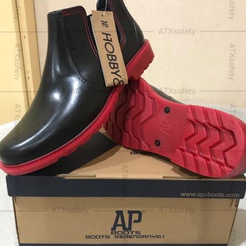 Foto Produk Sepatu AP Hobby N Work Boots Pendek PVC Kerja Waterproof ORIGINAL - 39 dari ATX Safety