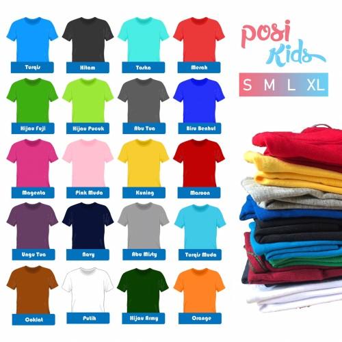 Foto Produk Kaos Polos Anak XL Besar Termurah dari Posikids
