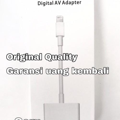 Foto Produk Kabel Apple Lightning Digital AV to Adapter HDMI iphone ipad original dari goru